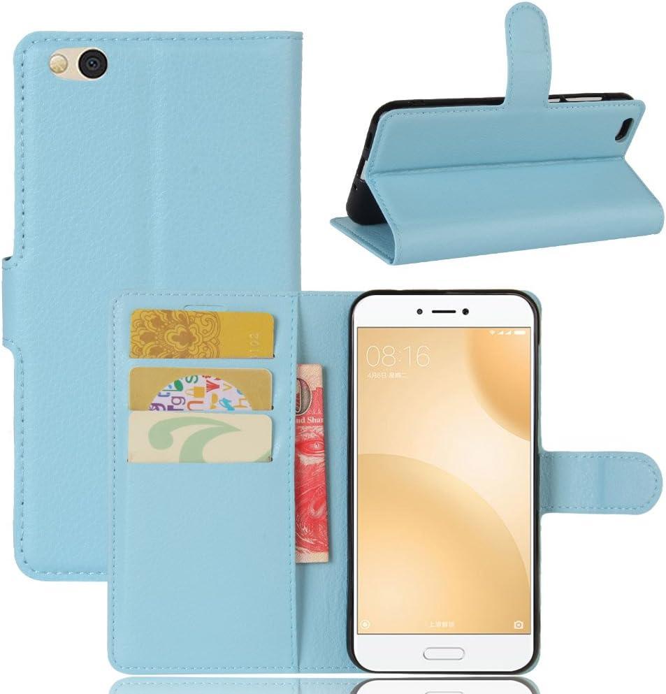 Xiaomi Mi 5C Funda, Funda de Cuero Pu Book Flip con Función de Soporte y Ranura de Tarjeta de Crédito para Xiaomi Mi 5C Smartphone: Amazon.es: Electrónica