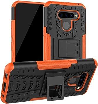 LiuShan LG Q60 / LG K50 Funda, Heavy Duty Silicona Híbrida Rugged ...