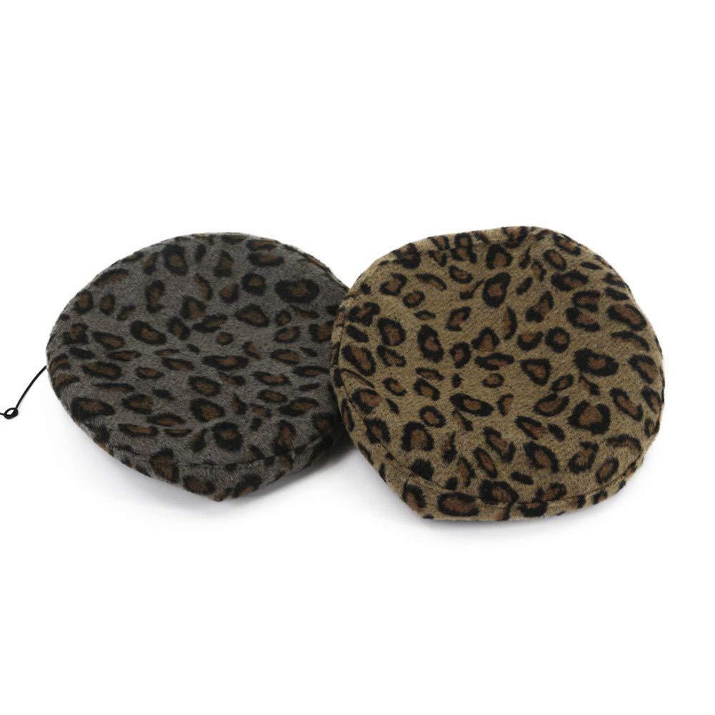 Fange Womens Classic Brown French Style Wool Berets Felt Cap Winter Hat