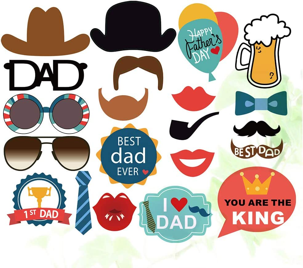 VALICLUD 2s Funny Creative Fathers Day Photo Taking Props Camera Props Party Supplies Decorations