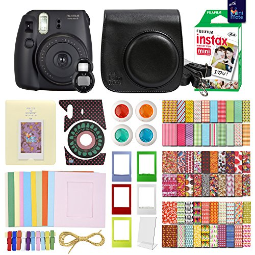 Fujifilm Case Fitted - FujiFilm Instax Mini 8 Camera with 20 Instax Film + Accessories KIT for Fujifilm Instax Mini 8 Camera Includes: + Custom Fitted Case + Assorted Sticker, Plastic & Paper Frames + Photo Album + More