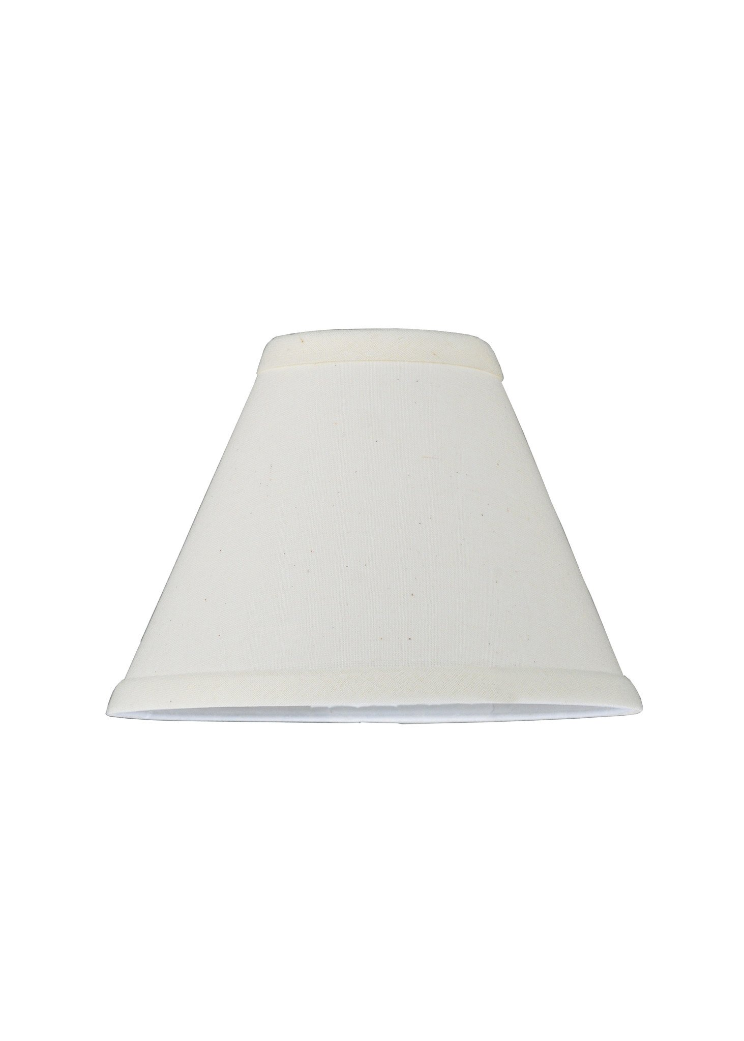 7 Inch W X 5 Inch H Natural Linen White Fabric Shade Product Family Natural Linen White