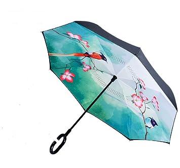WKAIJCK Paraguas Sombrillas Soleadas Al Aire Libre Damas Doble Automático A Prueba De Viento Protección UV