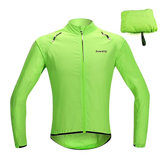 Santic Cycling Jacket, UPF30+ Mens Thin Cycling Skin Coat Water Resistant Bike Bicycle Jersey Wind Coat Sportswear