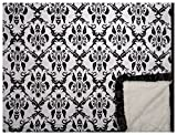 Minky Couture Printed Premium Blanket - Soft, Warm, Cozy, Comfortable, Perfect Gift! (Grande, Paris B/W)
