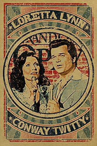 Vintage Iron On Transfers - Vintage Loretta Lynn & Conway Twitty Poster Iron On Transfer for T-Shirts & Other Light Color Fabrics #3