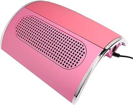 Aspirador de uñas, colector de polvo de uñas rosa, máquina de manicura profesional de salón, aspirador de uñas 40W, colector de polvo de uñas de 3 ventiladores(EU): Amazon.es: Belleza