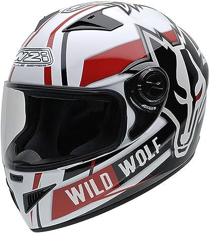 Amazon.es: NZI 150200G607 Must Wild Wolf Casco de Moto, Color ...