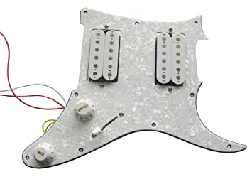 Prewired Single Coil 6-saitige akustische Gitarre Pickup Bronze Perle Farbe