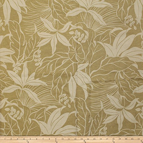 (Trans-Pacific Textiles Ginger Outdoor Dobby Barkcloth Beige Fabric by The Yard)