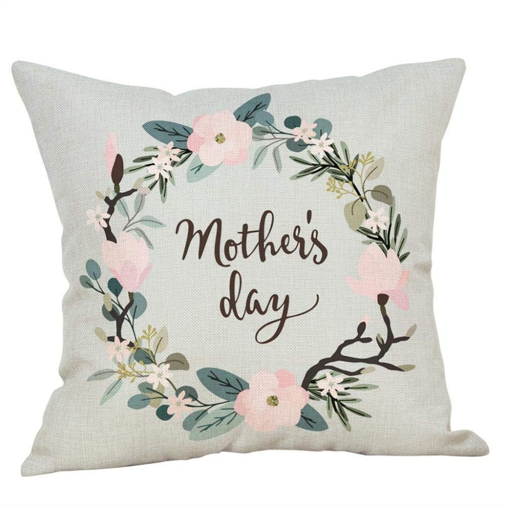 VJGOAL Día de la Madre Corona Pastel Impresión Algodón Lino ...