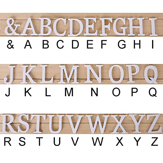 Aut/ónomo Letras de Madera h 26 Grande Letras Alfabeto Colgante de Pared Bricolaje Palabras Cartel para Fiesta Boda Hogar Tienda Decoraci/ón Como en la Imagen Show
