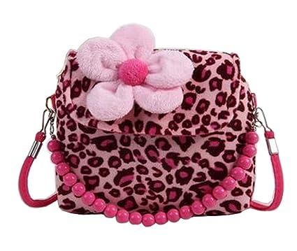 dbf18748366a Amazon.com  Black Temptation  Leopard  Beautiful Kids Shoulder Bag ...