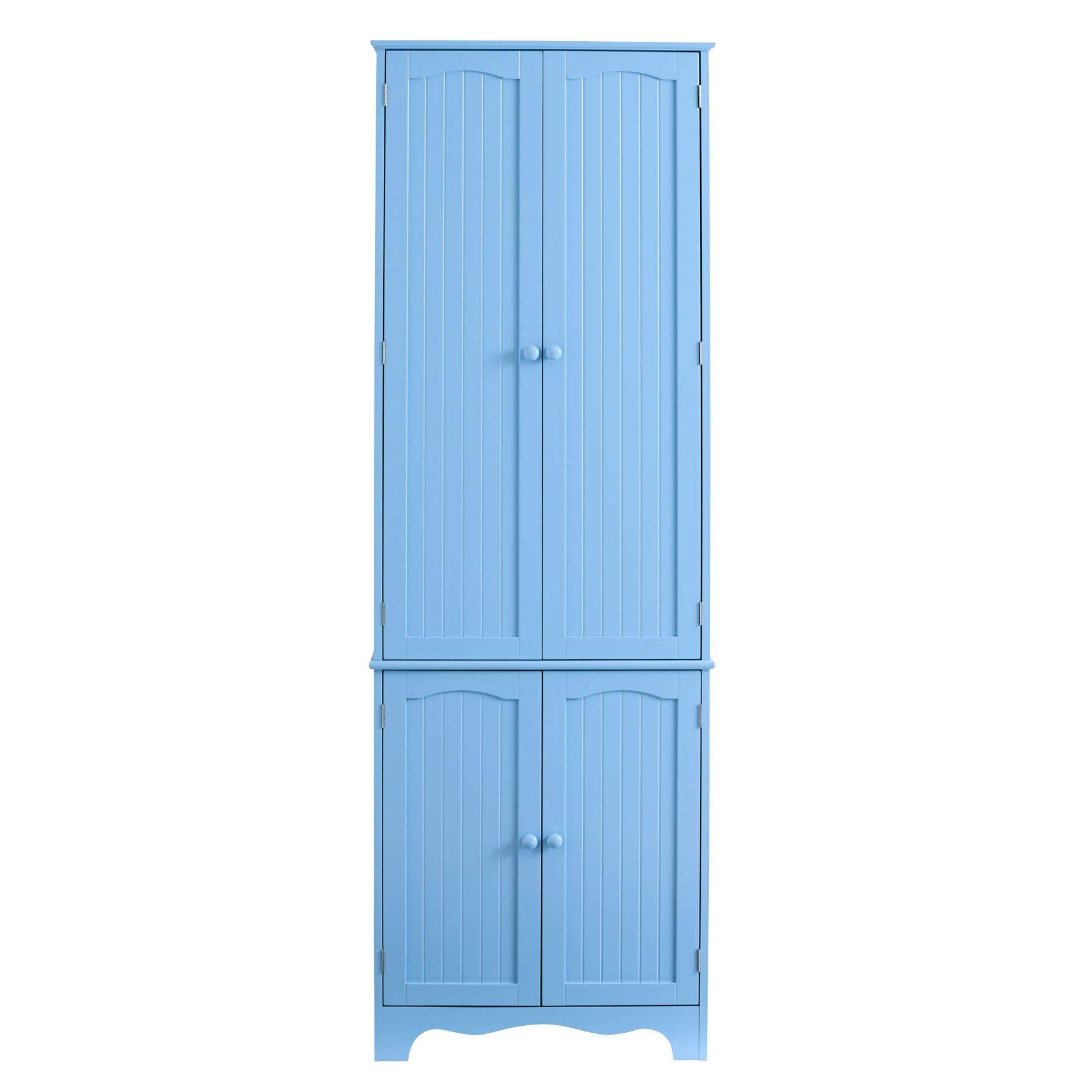 BrylaneHome Cottage Kitchen Tall Pantry Cabinet - Light Blue