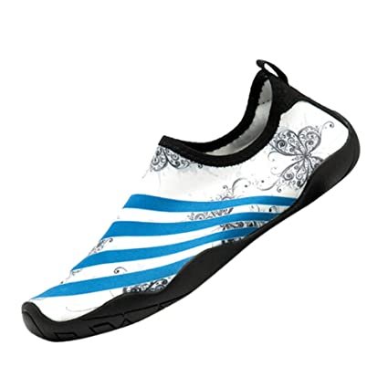 2e8fb7991658 Womens and Mens Kids Water Shoes Barefoot Quick-Dry Aqua Socks for Beach  Swim Surf