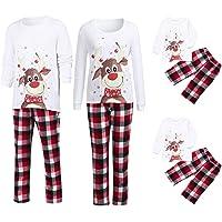 Natale pigiami famiglia Famiglia coordinata Set coordinazione famiglia Pigiami due pezzi LQQSTORE Donna uomo bambina bambino deer Camicetta+Pantaloni Pigiama abbigliamento per la casa Famiglia montato