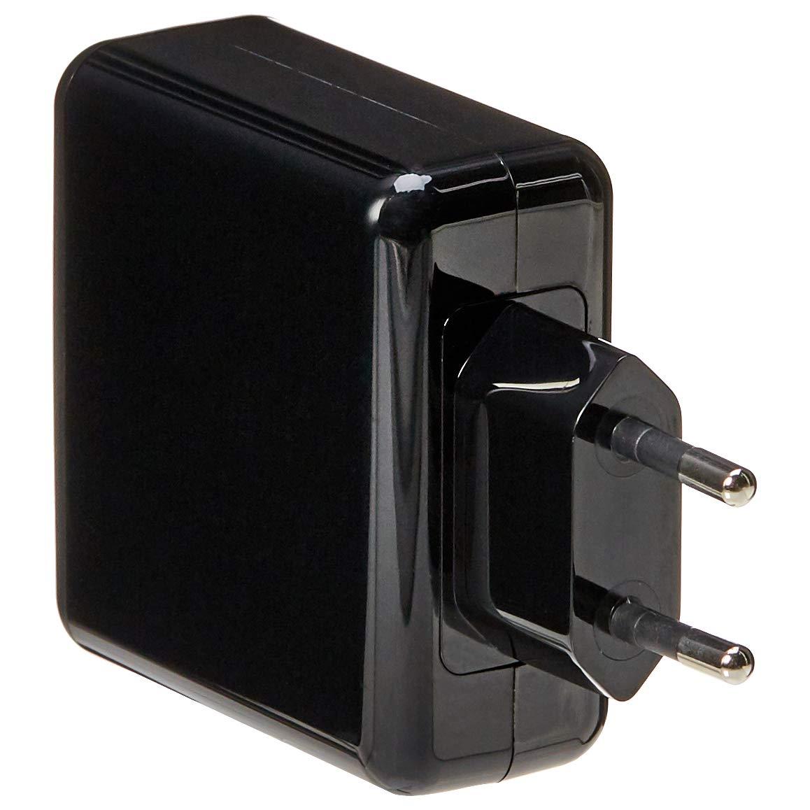 AmazonBasics – Cargador USB de pared de 4 puertos, 40 W, Negro