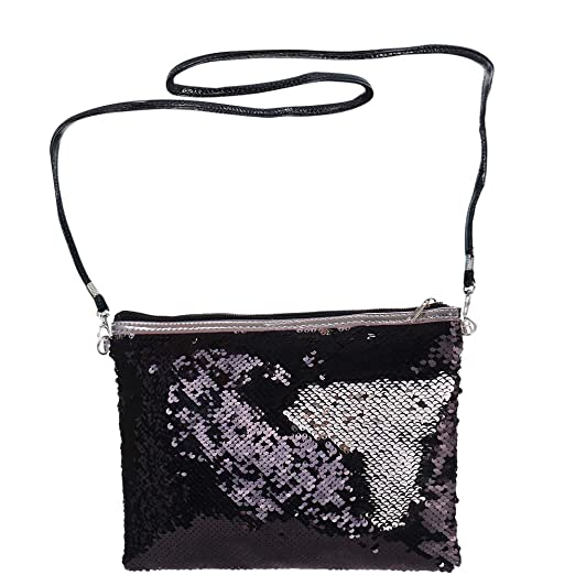 bc2cf7e638006 Aspire Reversible Sequin Shoulder Bag, PU Leather Zipper Bag, Magic Sequin  Bag for Girls