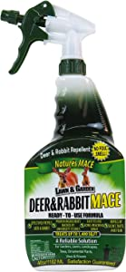 Nature's Mace Deer & Rabbit Repellent 40oz Spray/Covers 1,400 Sq. Ft. / Repel Deer from Your Home & Garden. Safe to use Around Children, Plants & Produce. Protect Your Garden Instantly