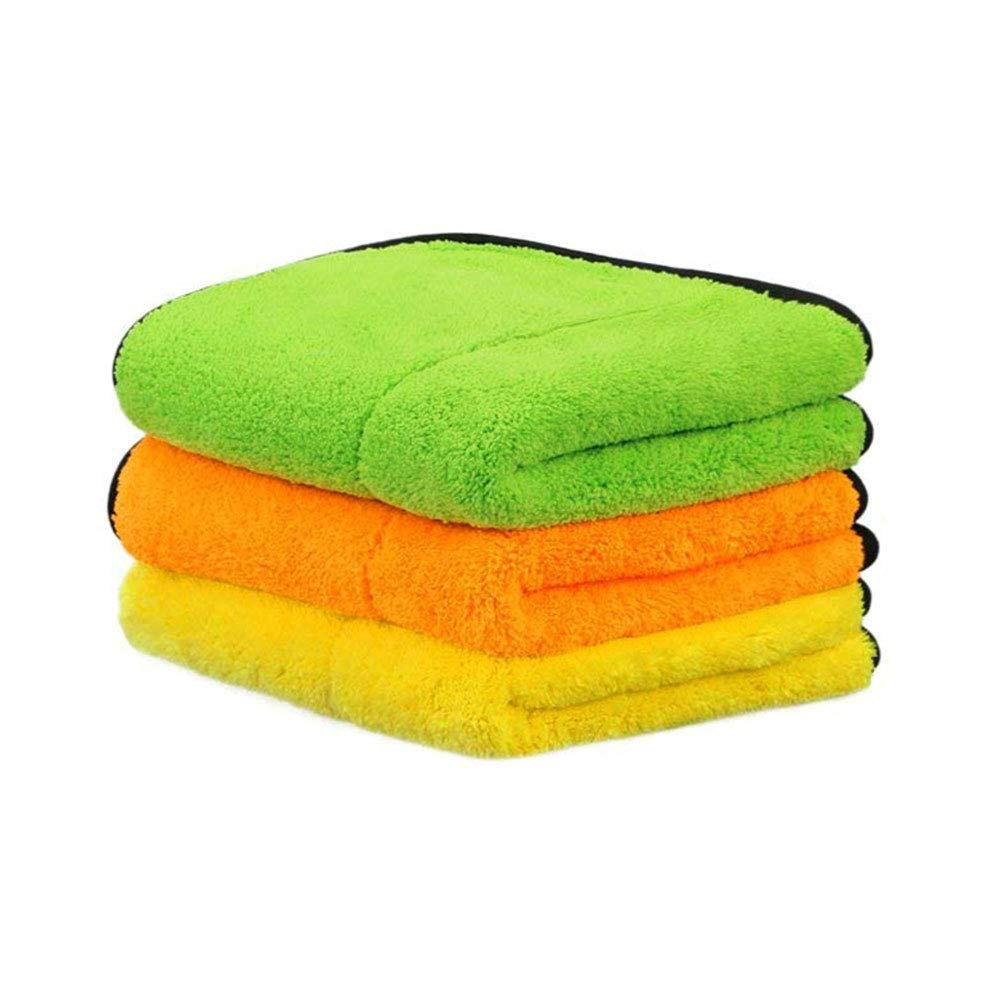 FOLCONROAD Car Detailing Towels Pack of 3 15''x17'' Ultra-Thick Microfiber Polishing Waxing Drying Cleaning Towel Cloth