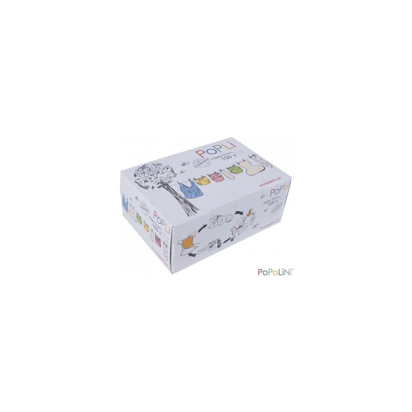 'Popolini–Pañales popli plástico para pañales, color blanco