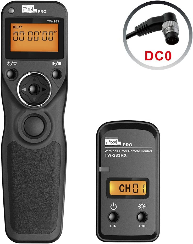 Pixel TW-283//DC0 LCD Wireless Timer Shutter Release Remote Control for Nikon DC0