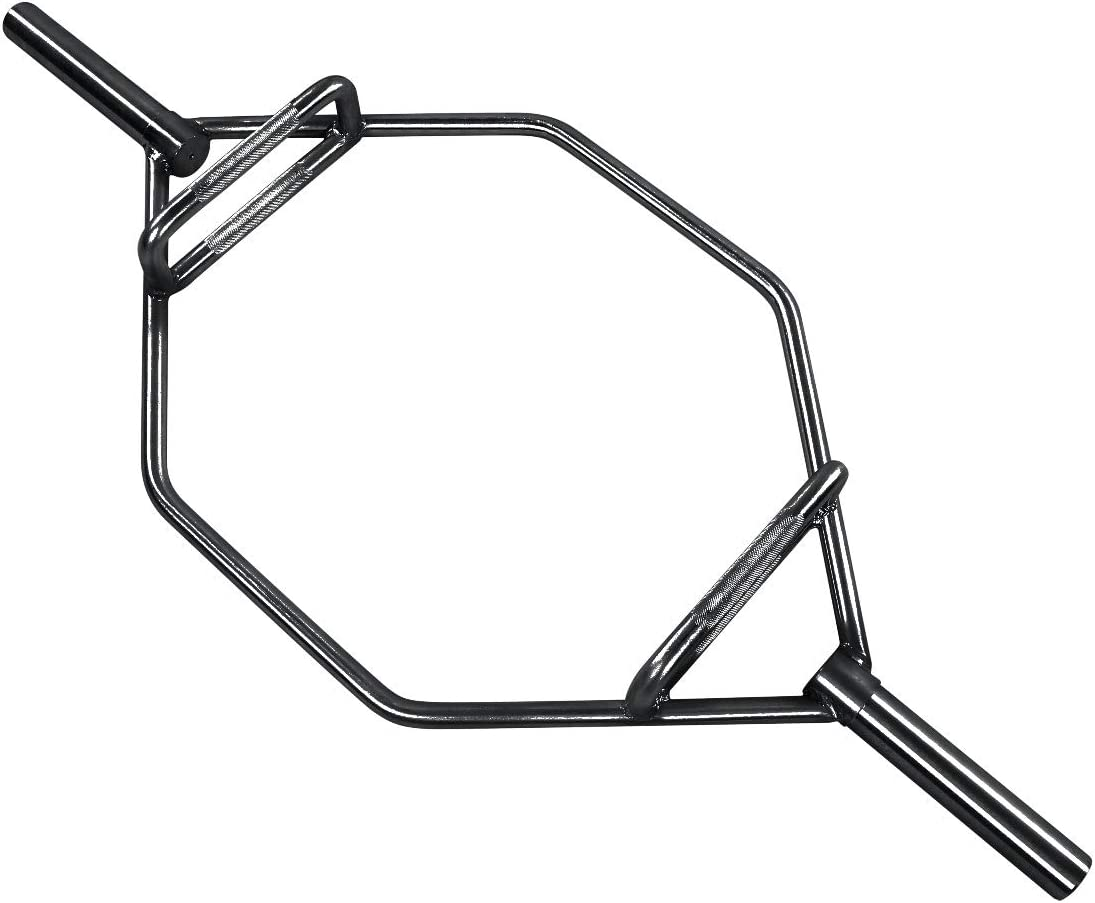 Everyday Essentials Olympic 2-Inch Hex Weight Lifting Trap Bar, 1000-Pound Capacity, black (EE-HEX-BLK)