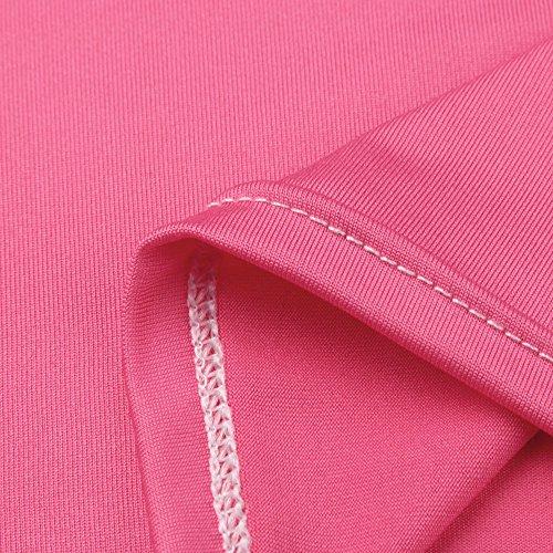 Bxzhiri_Women Tops Short Sleeve Nurse Pregnant Maternity Mother Print T-Shirt Blouse Hot Pink by Bxzhiri_Women Tops (Image #3)