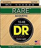 DR Strings Rare - Phosphor Bronze AcousticHex Core 10-48