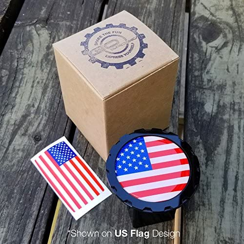 GoBadges Metal Trailer Hitch Tube Cover//Fits All 2 Receivers//Bonus US Flag Sticker//Interchangeable Design//Personalized Hitch Cover Jolly Roger