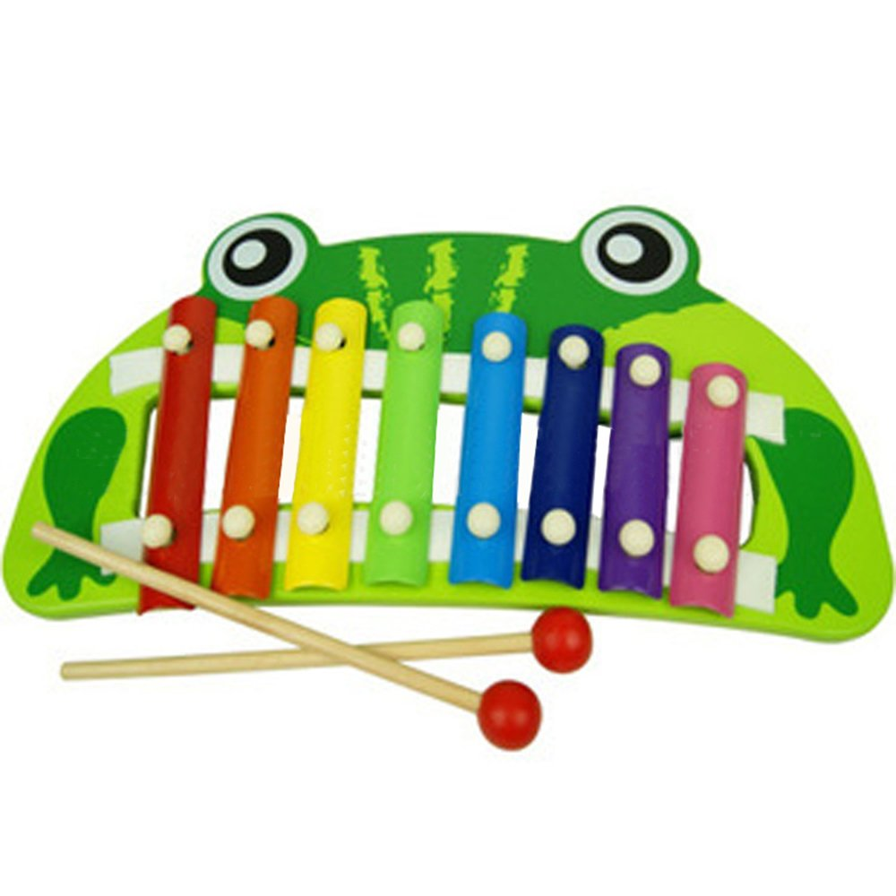 Baidercor Xylophone Eucational Musical Toys Frog 8 Tones Percussion