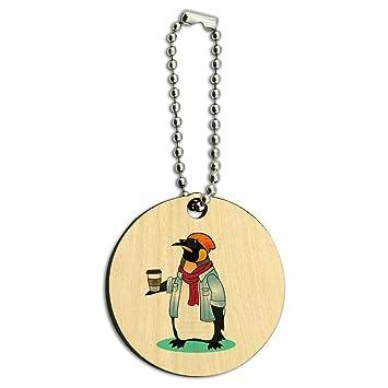 Cool Hipster de pingüino con diseño de café de madera ...