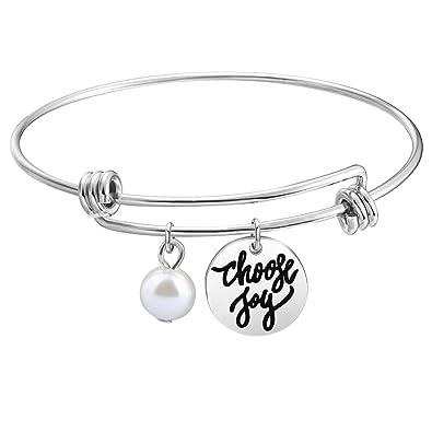 Amazon.com: kuiyai Choose Joy pulsera para las mujeres joyas ...