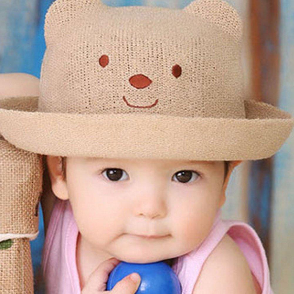 b4437166 Amazon.com : Kylin Express Cute Kids Hat Straw Sun Hats Cap Toddler Hat -  Fishbone Pattern : Sports & Outdoors