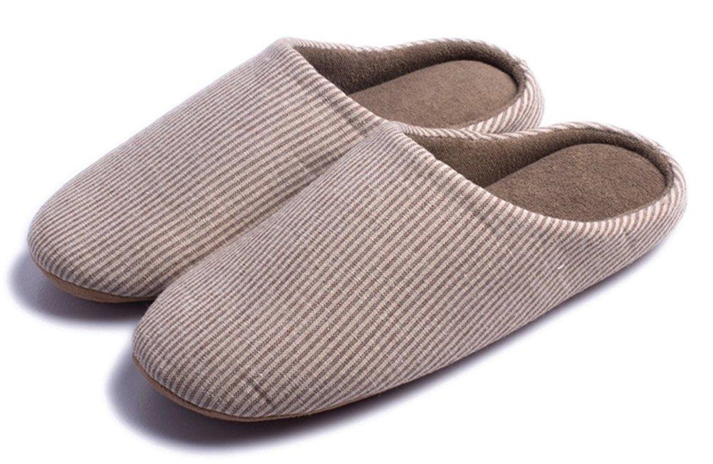 Indoor Slippers Soft Bottom Home Autumn Winter Memory Foam Wood Floor Couple Cotton Men Women