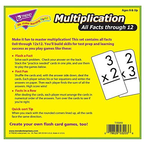 Trend Enterprises Multiplication 0-12 Flash Cards (All Facts)
