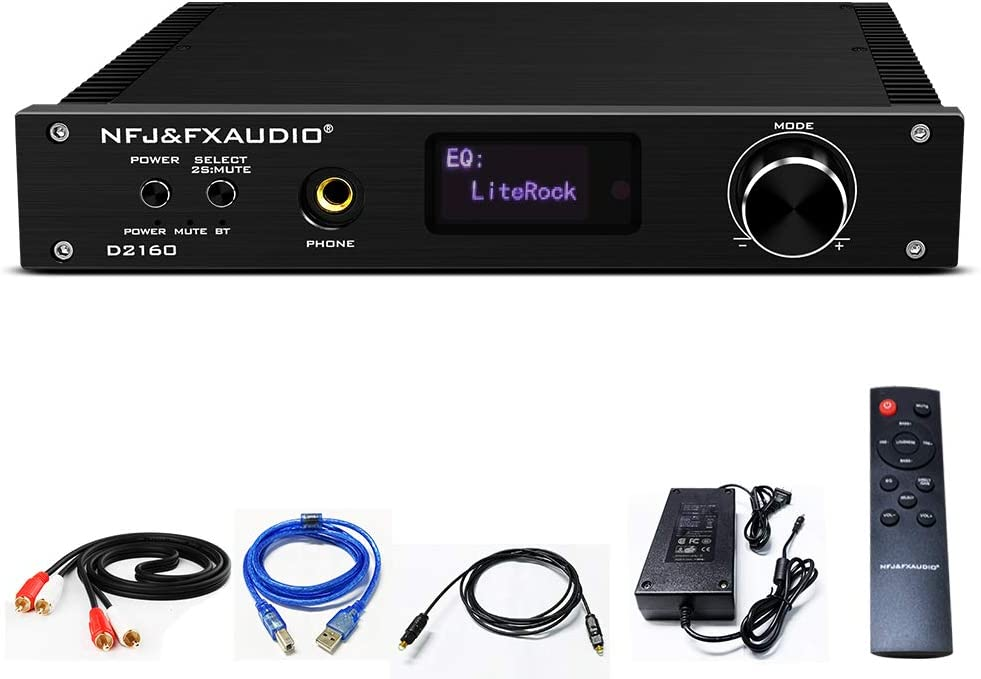 FX AUDIO Wireless Bluetooth Power Amplifier CSR8675 150W X2 Dual Channel Home Audio Stereo Amp with Optical Coaxial PC-USB RCA Input Full Digital Class D Amplifier with DC 36V 6A Power Supply (Black)