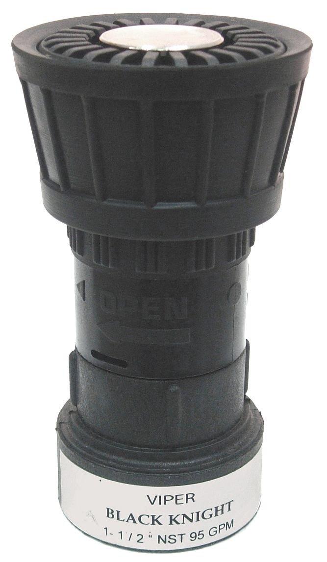Fire Hose Nozzle, 1-1/2 In., Black