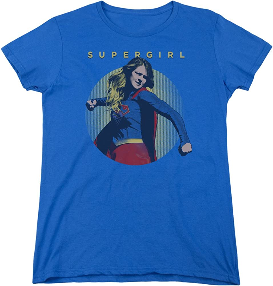 Paisley Sihouette Adult Ringer T Superman Shirt