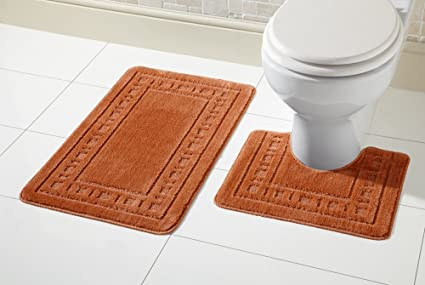 Fantastic 2 Piece Bath Mat Set Non Slip Rubber Machine Washable Creativecarmelina Interior Chair Design Creativecarmelinacom