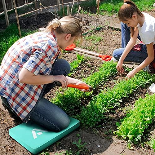 HAUSHOF Thick Kneeling Pad, Garden Kneeling Mat for Gardening, Comfortable Memory EVA Foam Mat for Work, Planting, Yard Work, Prayer, Yoga, Mechanic, Baby Bath,17 x 11 x 1.5 Inch, Green