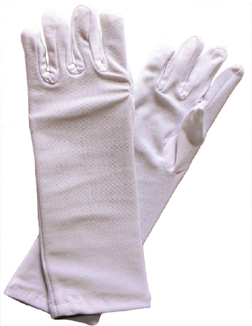 Butterfly Twinkles Fancy Polyester Long Dress Up Gloves for Girls Tea Party BT-GLOVES-LONGWHITE-1