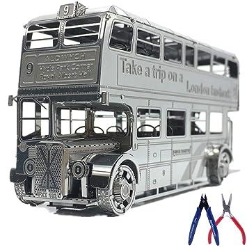 Kreekr 3D Metal Puzzle Kits Modelo Autobús de Londres DIY Laser Cut Assemble Jigsaw Toy con 2 Alicates: Amazon.es: Deportes y aire libre