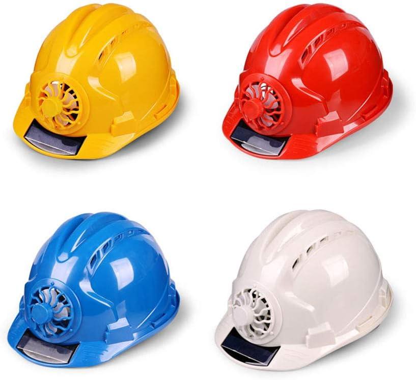 fayle Safety Helmet with Solar Powered Cooling Fan Outdoor Cycling Helmet,Ventilate,Helmet for Sanitation Worker Construction Safety Helmet Hard Hat Helmet
