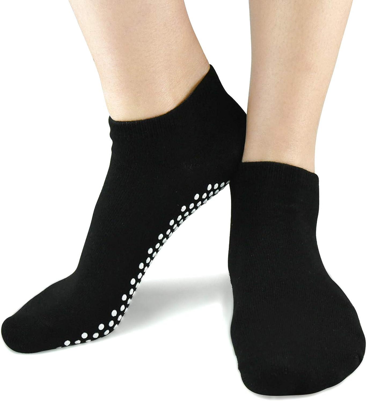 Sticky Barre Grips Slipper Socks - Elutong 1 Pack Non Slip with grippers Yoga Pilates Ballet Skid for Women