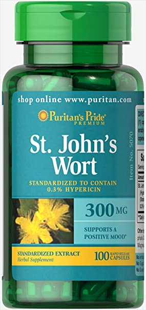 Amazon.com: Puritans Pride St. Johns Wort Standardized Extract 300 mg-100 Capsules: Health & Personal Care