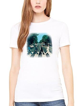 d5f3f5317 AWDIP - Camiseta oficial de Los Beatles en Abbey Road de la mujer de las  mujeres de la música rock años sesenta John Lennon  Amazon.es  Ropa y  accesorios