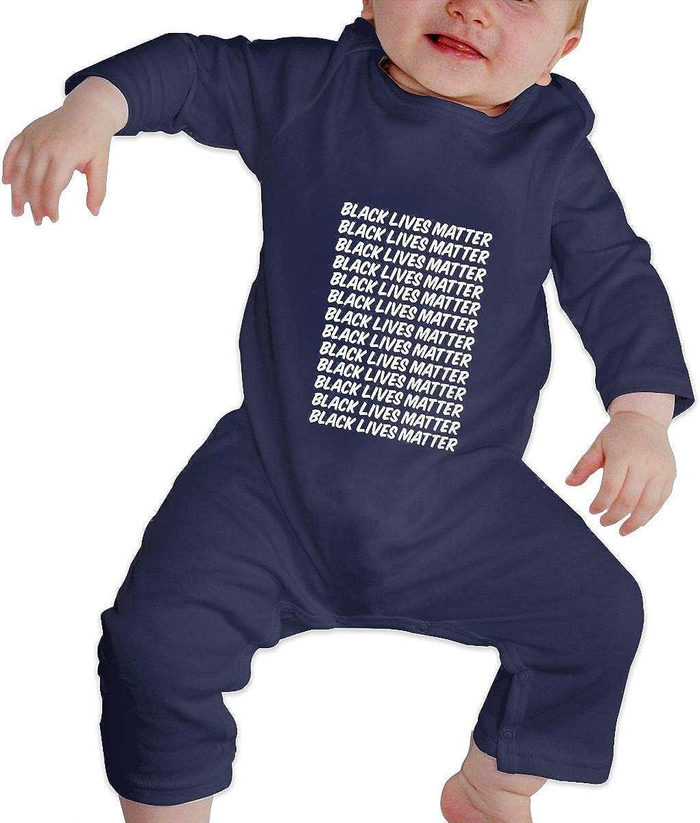 Black Lives Matter Toddler Footed Romper Onesie Unisex Baby Bodysuit Long Sleeve