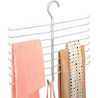 mDesign Metal Closet Rod Hanging Accessory Storage Organizer Rack for Scarves, Ties, Yoga Pants, Leggings, Tank Tops…