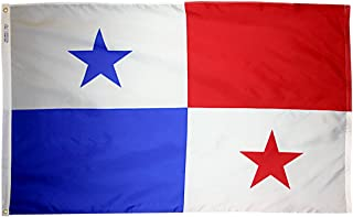 product image for Annin Flagmakers Model 196541 Panama Flag 3x5 ft. Nylon SolarGuard Nyl-Glo 100% Made in USA to Official United Nations Design Specifications.